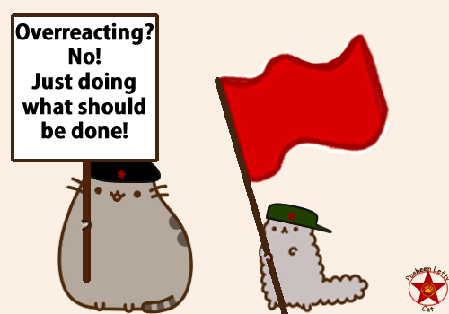 Pusheen the lefty cat/Facebook