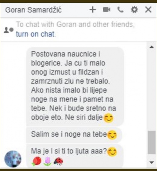Screenshot razgovora/Facebook